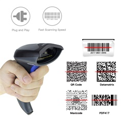 NT-W8 2D Wireless CMOS Barcode  Scanner อ่านบาร์โค้ด QR code Symbologies: All 1D and 2D codes, PDF417,  microPDF417  and composite codes,MaxiCode,  DataMatrix  (ECC  QR Code  Precision:0.127mm Speed:  5