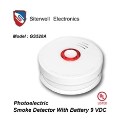 GS528A Smoke with Battery 9 VDC UL.