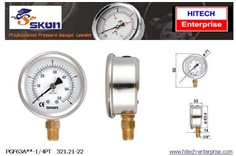 SKON PRESSURE GAUGE 63 MM , BOTTOM CONNECTION