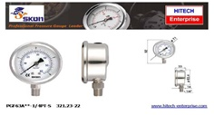 SKON ALL STAINLESS PRESSURE GAUGE 63 MM , BOTTOM CONNECTION