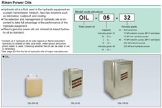 RIKEN Power Oil OIL Series