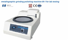 Metallographic Grinding Polishing Machine M-1 for Lab Testing