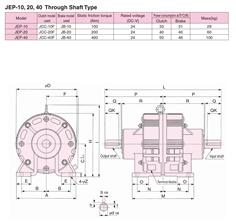 SINFONIA Electromagnetic Clutch/Brake Unit JEP-10, JEP-20, JEP-40 Series