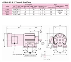 SINFONIA Electromagnetic Clutch/Brake Unit With Motor JEM Series
