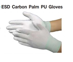 ESD CARBON NYLON PALM FIT PU COATER GLOVES