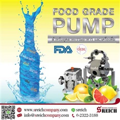 Food pump in 316 stainless steel to transfer fruit juices