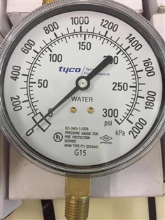 Pressure Gauge for Fire Protection