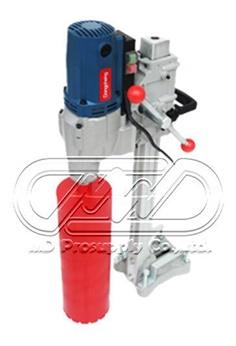 Core drilling machine มีกระบอกหัวเพชร dia. 4 นิ้ว 1 อัน พร้อมเครื่องกำเนิดไฟฟ้าชนิดเบนซิน