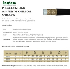 Paint and Aggressive Chemical Spray Hose