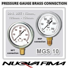 Bourdon Pressure Gauge MGS10 (Brass)