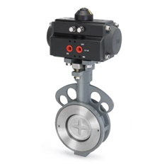 Pneumatic Actuator Butterfly Valve