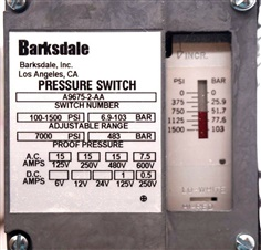 Barksdale A9675 Pressure Switch