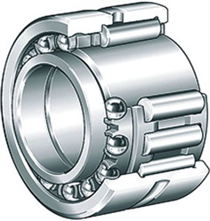 NKIB5909-XL Needle roller/angular contact ball bearings d45 D68 B34 mm. / 45mm ID x 68.0mm OD x 68mm W Needle Roller Angular Contact Combination Bearing