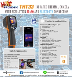 THT33 : INFRARED THERMAL CAMERA WITH RESOLUTION 80x80 AND BLUETOOTH CONNECTION