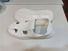 ESD Butterfly Shoe (PVC Upper + SPU Sole) White Color (06041-W)