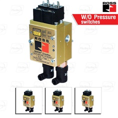 Double Valves with or w/o Pressure Switches, Ports 1/4 to 3/4