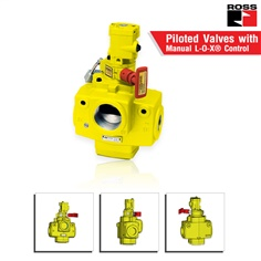 Piloted Valves with Manual L-O-X? Control