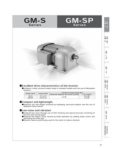 MITSUBISHI Geared Motor GM-S-0.1KW-200V Series