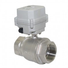 A150-T50-S2-B DN50 SS304 SS316 motorized ball valve with manual override