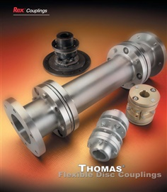 "Thomas flexible disc coupling type ST#312 W/Stainless steel disc pack 2-3/4"" bore ...."