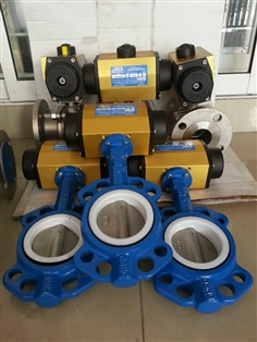 BUTTERFLY VALVE FLANGED WAFER WITH PNEUMATIC ACTUATOR