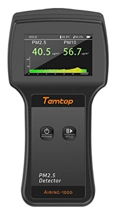Temtop Airing-1000 PM2.5 Air Quality Monitor Large TFT Screen