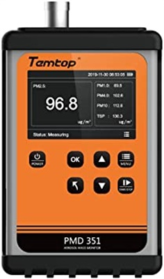 Temtop PMD 351 Handheld Particle Counter Particulate Meter for PM1.0/PM2.5/PM4.0/PM10/TSP