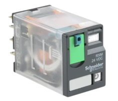 Schneider Electric, 24V dc Coil Non-Latching Relay 4PDT, 8A Switching Current Plug In, 4 Pole