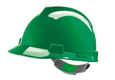 MSA, GV141-0000000-000, Safety V-Gard Green Hard Hat