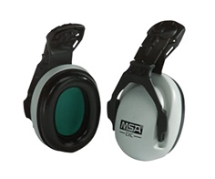 MSA, 10061230, EXC Cap Mounted Earmuffs, 25 dB NRR, Gray 454- 10061230