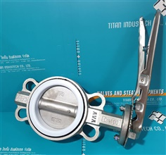 BUTTERFLY VALVE , SEAT PTFE , DISC STAINLESS STEEL