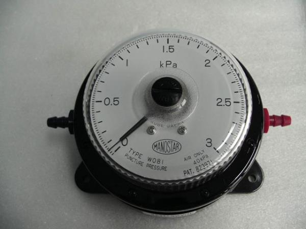 MANOSTAR Low Differential Pressure Gauge WO81FN3E,MANOSTAR, Pressure Gauge, WO81FN3E, WO81, YAMAMOTO,MANOSTAR,Instruments and Controls/Gauges