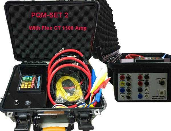 ชุดกระเป๋า PQM SET2 With Flex CT 1500 Amp,AC 3 PHASE POWER METER,IP meter,ชุดกระเป๋า,LEOS ( ลี-ออส ),Plant and Facility Equipment/HVAC/Equipment & Supplies