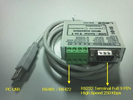 PLC Download Cable - USB TO RS232/RS485/RS422 (ISOLATE) รุ่น USB-SERIAL 3in1,USB TO SERIAL,USB Cable,ISOLATE,download cable,PLC Download Cable,plc,plc cable,LEOS ( ลี-ออส ),Instruments and Controls/Accessories/General Accessories