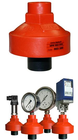 Bourdon Tube Pressure Gauge with Plastic Diaphragm Seal,Pressure Gauge,ITEC,Machinery and Process Equipment/Vessels/Pressure Vessel