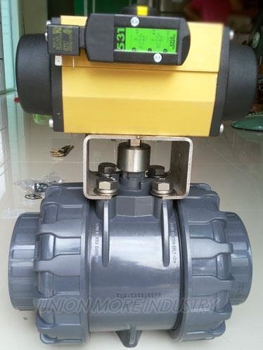 BALL VALVES (บอลวาล์ว) รุ่น UPVC/EPDM DN100 ,BALL VALVE UPVC/EPDM DN100,BALL VALVE,บอลวาล์ว,BALL VALVES,SIRCA,PNEUMATIC ACTUATOR,SOLENOID VALVE,,Pumps, Valves and Accessories/Valves/Ball Valves