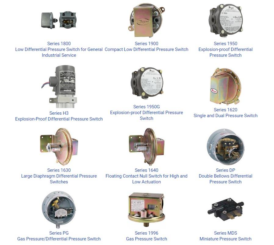 Dwyer Series ADPS/EDPSHVAC - Differential Pressure Switch