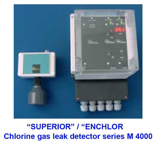 GAS DETECTOR,Chlorine gas leak detector,GAS DETECTOR,SUPERIOR, ENCHLOR,Instruments and Controls/Detectors