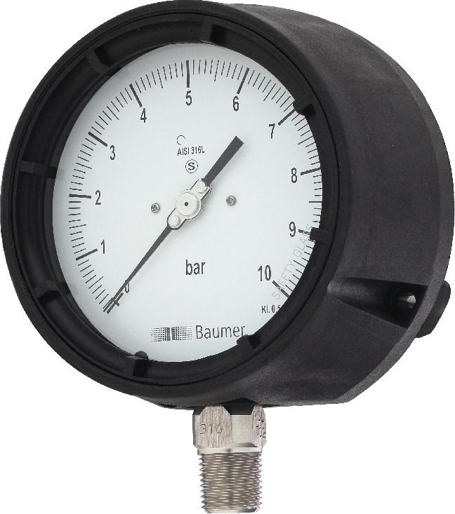 "AE Solid Front Process Gauge (4 1/2"" ) Bourdon type,เกจวัดแรงดัน,Gauge, Pressure Gauge,Baumer Pressure Gauge ,Baumer Passion for Sensors,Instruments and Controls/Gauges"