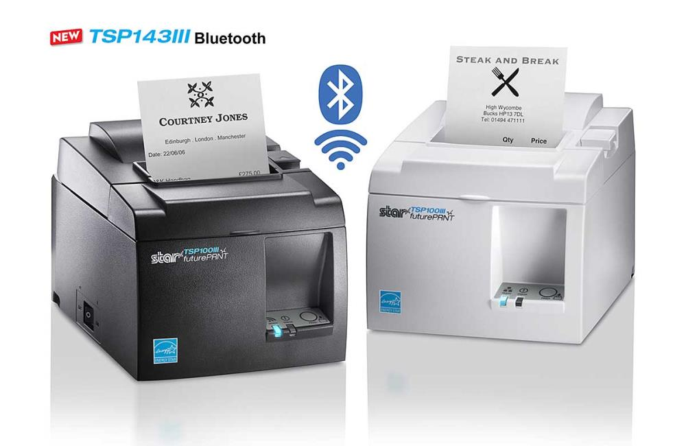 TSP143IIIW,WT,US,WIFI,Star เครื่องพิมพ์ใบเสร็จควำมร้อน  Print Speed 250mm/sec.TSP1000III Print Speed	250mm/sec. Resolution	203 dpi No. of Columns	48 / 64 col. Depending on Paper Width Autocutter	Autocutter : Partial (Guillotine) Paper Width	80mm (58mm Using Paper Guide)