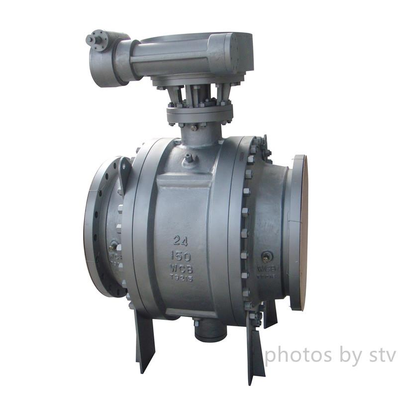 "Ball Valve Full Bore Floating Flange Ansi 150# ,RF ,24"" Carbon Steel, Gear Box"
