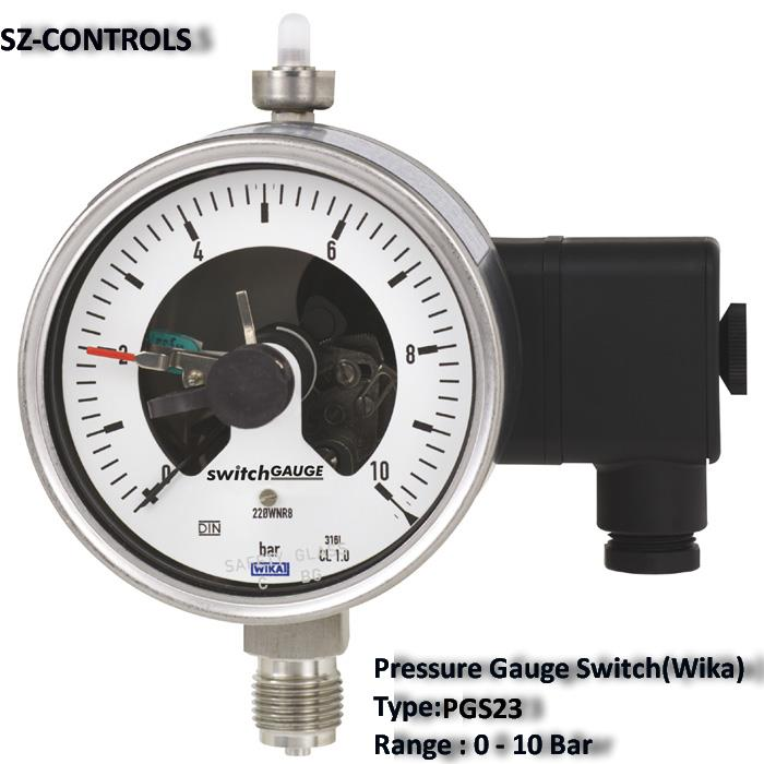 "Pressure Gauge Switch.(Wika) PGS23,Pressure Gauge Switch. Pressure Gauge.  ""WIKA""  PGS23.  Pressure Gauge Control.,""WIKA"",Instruments and Controls/Gauges"