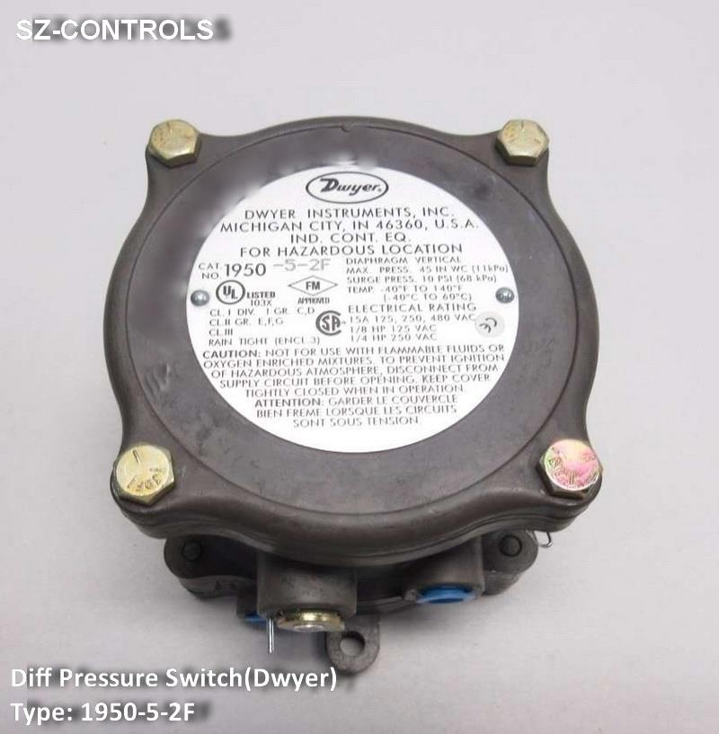 "Differential Pressure Switch(Dwyer)1950-20,Differential Pressure Switch , Pressure Switch , Pressure Control , DWYER ,,""DWYER"",Instruments and Controls/Switches"