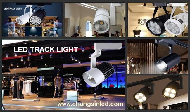 โคมไฟ COB LED Track Light ทรงกระบอก 10W โคมสีดำ/ขาว, LED Track Light ,OEM,Electrical and Power Generation/Electrical Components/Lighting Fixture