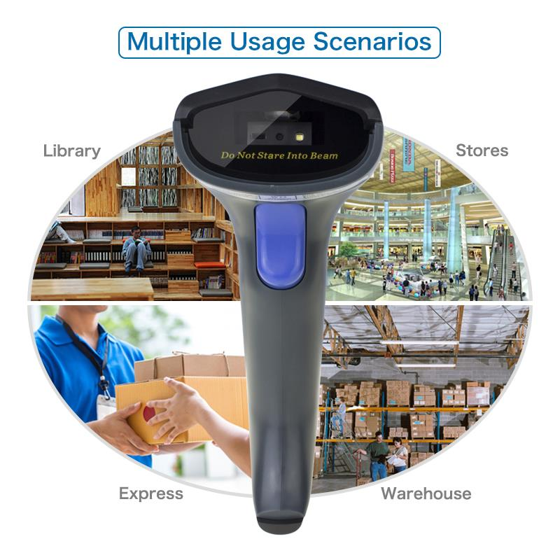 NT-W8 2D Wireless CMOS Barcode  Scanner อ่านบาร์โค้ด QR code Symbologies: All 1D and 2D codes, PDF417,  microPDF417  and composite codes,MaxiCode,  DataMatrix  (ECC  QR Code  Precision:0.127mm Speed:  5''/sec(12.7cm)  Communication  Distance:  Over 10m outdoor; Print Contrast:?30%