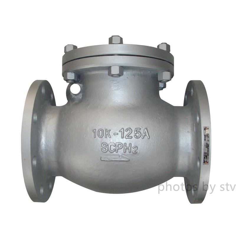 SCPH2 Swing Check Valve, 10K, 125A,Flange End,SCPH2 Swing Check Valve,JIS10K Swing Check Valve,Flange End Jis Swing Check Valve,JIS10K-20K Swing Check Valve,125A Swing Check Valve,stv,Pumps, Valves and Accessories/Valves/Check Valves