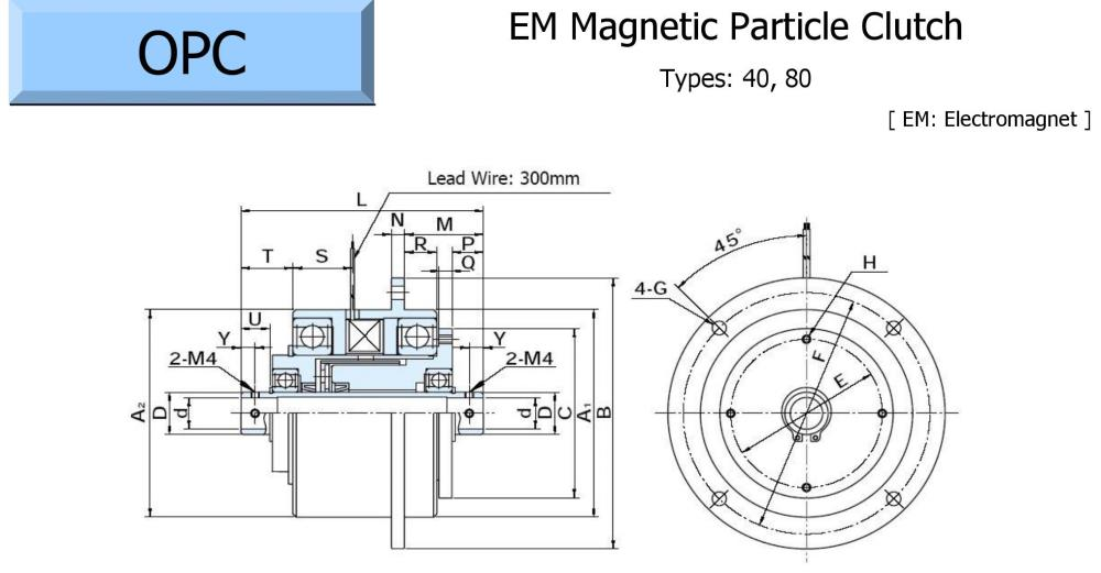 OGURA Magnetic Particle Clutch OPC-A Series