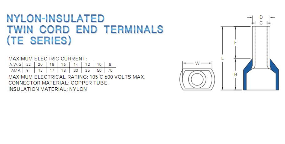 TWIN CORD END TREMINALS,TWIN CORD END,KST,Automation and Electronics/Electronic Components/Terminals