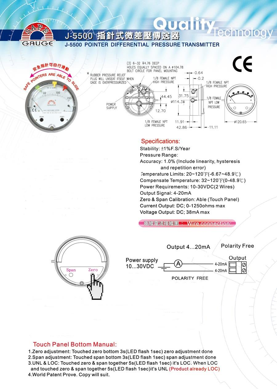 Differential pressure gauge & transmitter