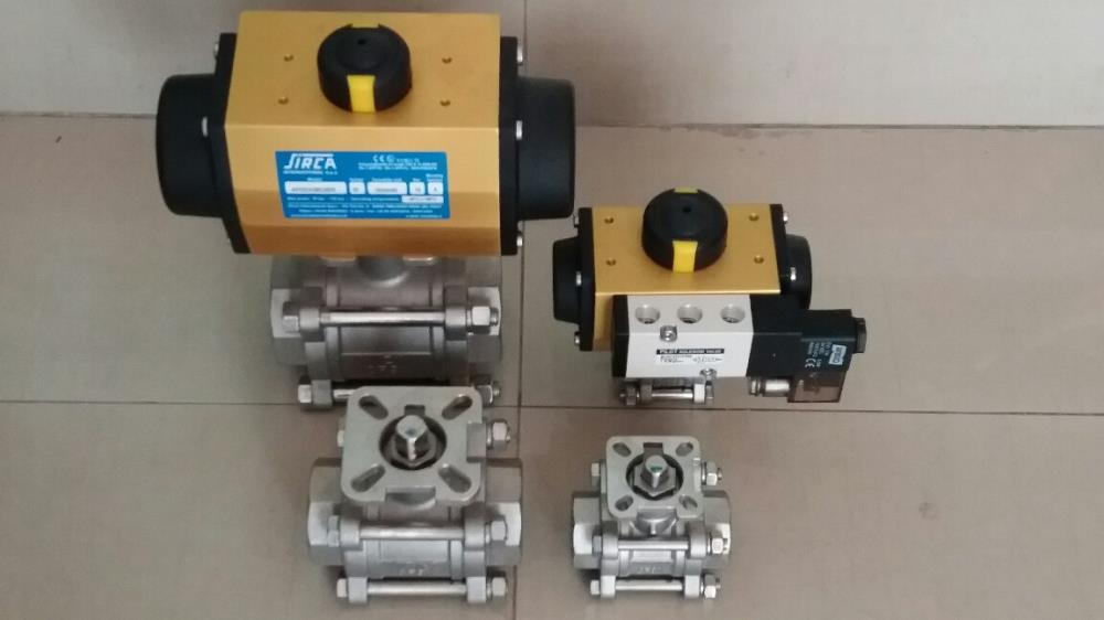 BALL VALVE 3WAY L-PORT/T-PORT WITH PNEUMATIC ACTUATOR,BALL VALVE 3WAY L-PORT/T-PORT  FULL PORT,Flow,Pumps, Valves and Accessories/Valves/Ball Valves
